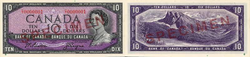 10 dollars - 1954 face du diable
