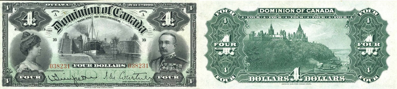 4 dollars 1900 - Dominion of Canada - Canada