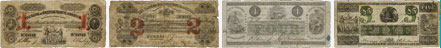 Billets de la banque de la Bank of British North America de 1852