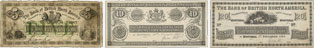 Billets de la banque de la Bank of British North America de 1865