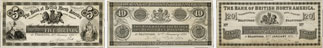 Billets de la banque de la Bank of British North America de 1871