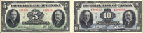 Billets de l'Imperial Bank of Canada de 1939