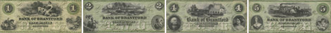 Billets de la Bank of Brantford de 1859 - Vert