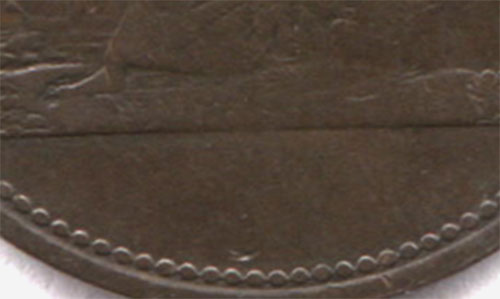 Ship - 1/2 penny 1815 - Without date
