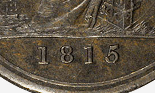 Ship - 1/2 penny 1815 - With date