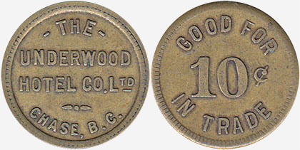 The Underwood Hotel Co. - Chase - 10 cents