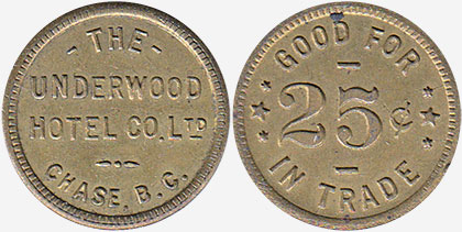 The Underwood Hotel Co. - Chase - 25 cents