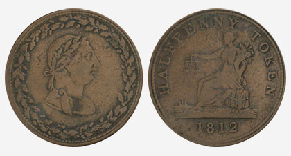 Tiffin - 1/2 penny 1812 - Cuivre