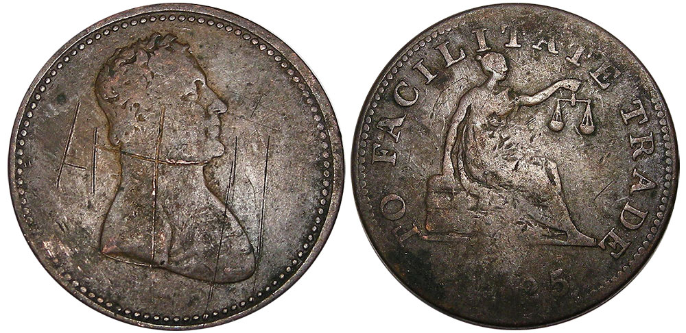 AG-3 - Facilitate trade - 1/2 penny 1825