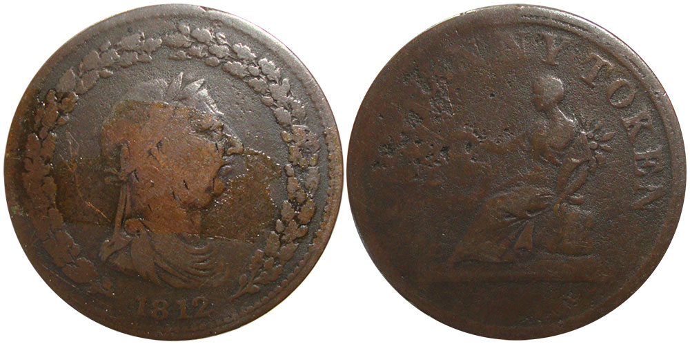 AG-3 - Thomas Halliday - 1 penny 1813