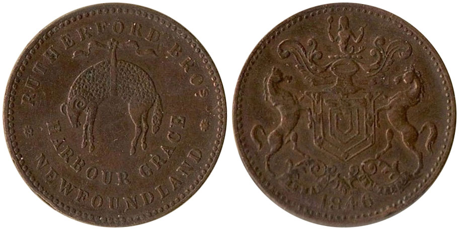 EF-40 - Rutherford Brothers - 1/2 penny - 1841