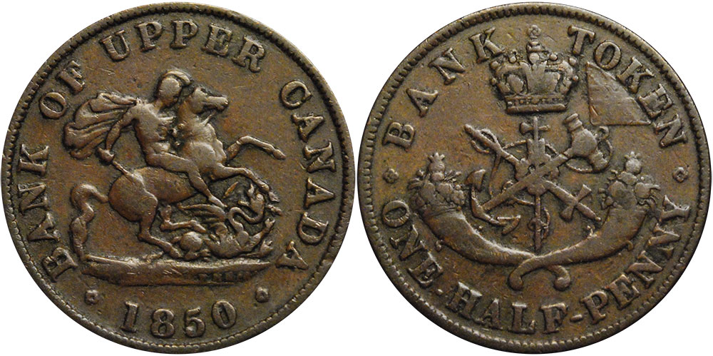 G-4 - 1/2 penny 1850