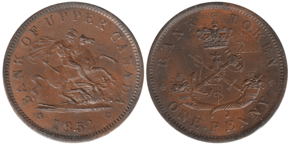 MS-60 - 1 penny 1852