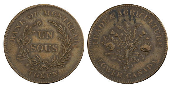 1 sous 1838 - Bank of Montreal