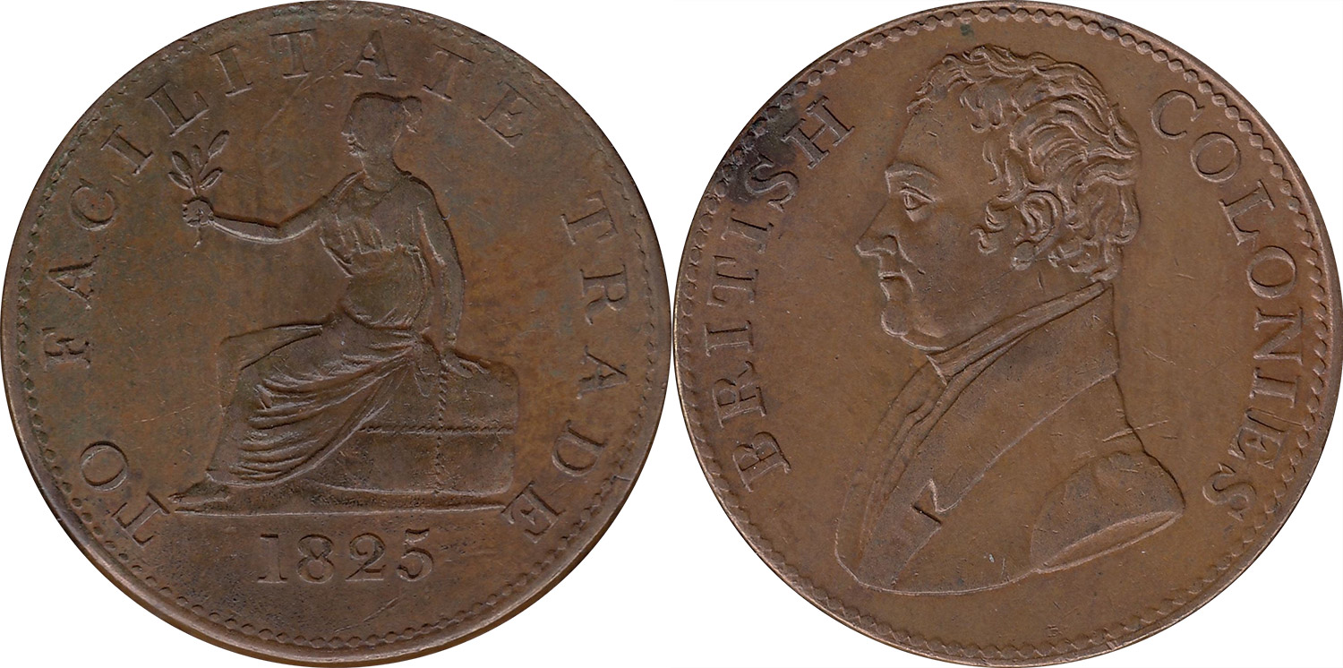 British Colonies - 1/2 penny 1825