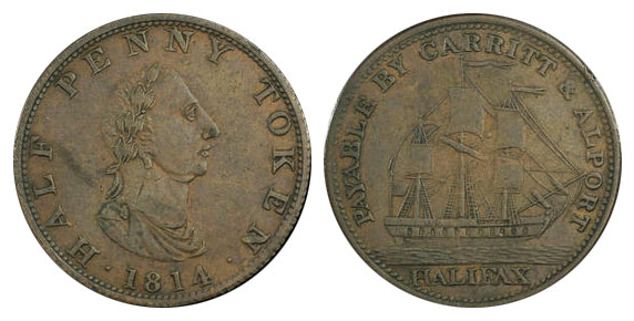 Carritt & Alport - 1/2 penny 1814 - Halifax