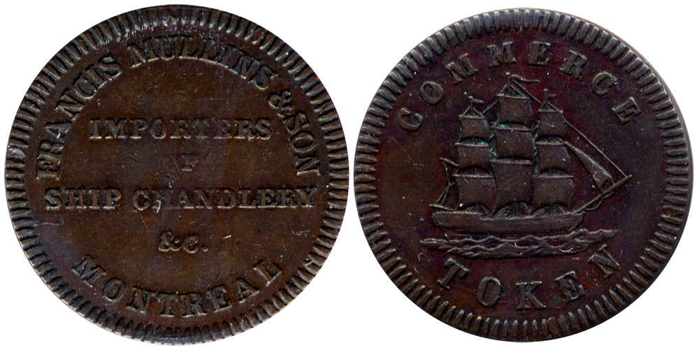 Francis Mullins & Son - 1/2 penny 1829