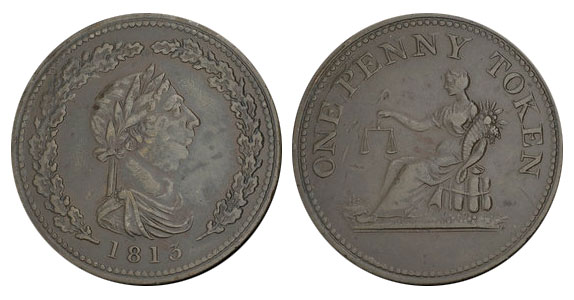 Thomas Halliday - 1 penny 1813