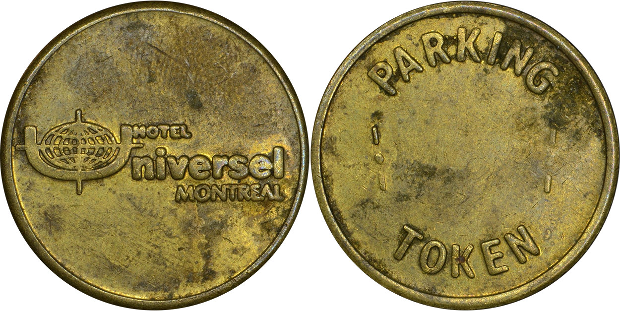 Coins And Canada Transportation Tokens Train Transit