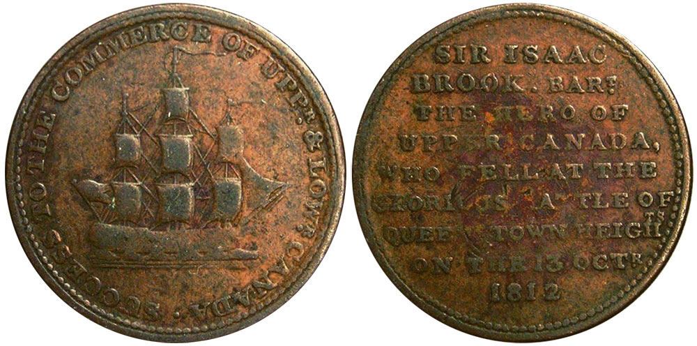 Sir Isaac Brook - 1/2 penny