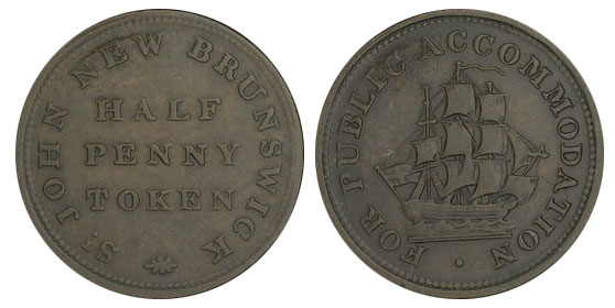 Public accomodation - 1/2 penny 1835
