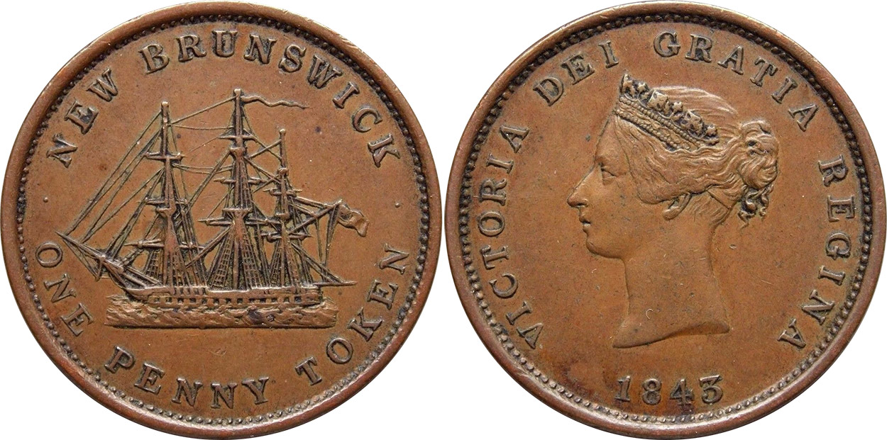 Provincial Government - 1 penny 1843