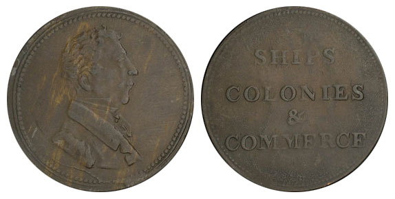 Ships, colonies & commerce - 1/2 penny 1830