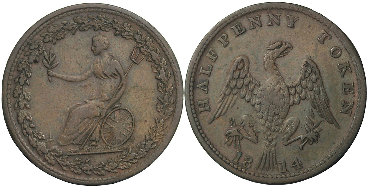 Spread Eagle - 1/2 penny 1814