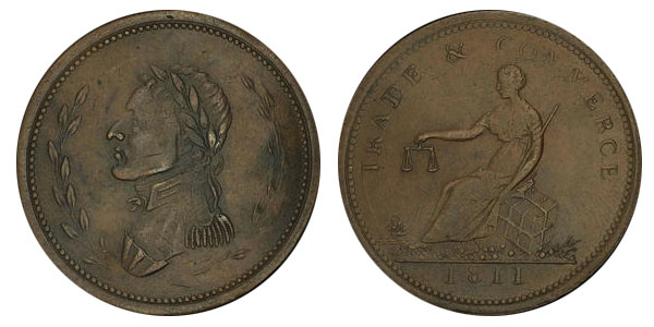 Trade & Commerce - 1/2 penny 1811