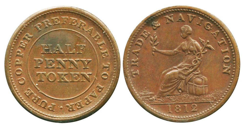 Trade & Navigation - 1/2 penny 1812