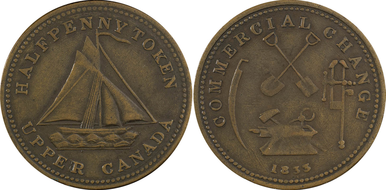 Commercial Change - 1/2 penny 1833