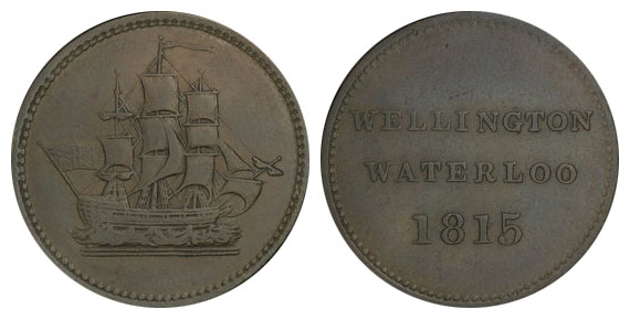 Waterloo - 1/2 penny 1815