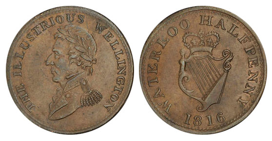 Waterloo - 1/2 penny 1816
