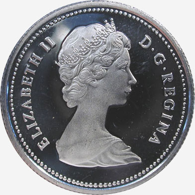 25 cents 1973 - Small bust