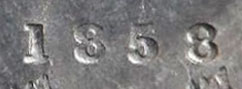 5 cents 1858 - Petite date