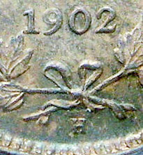 5 cents 1902 - H - H Small