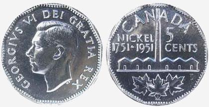 [Canada] - Le plus grand du monde  - Page 4 5-cents-1951-commemorative