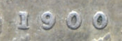 5 cents 1900 - Oval 0