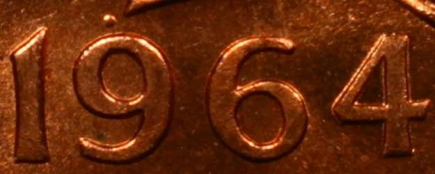 1 cent 1964 - Point