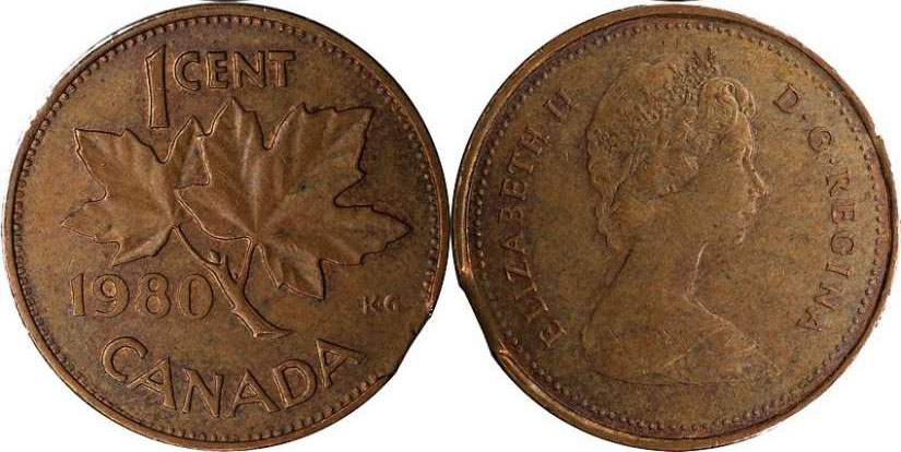 Coins And Canada 1 Cent 1980 Canadian Coins Price Guide And Values