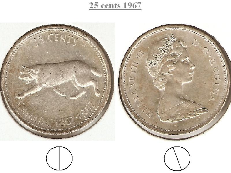 Coins And Canada 25 Cents 1967 Canadian Coins Price