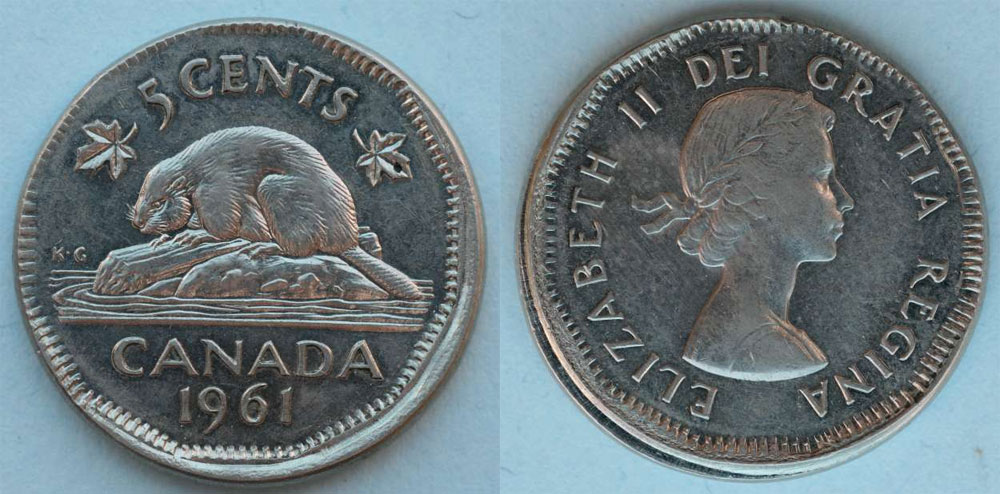 Numicanada 5 Cents 1961 Valeur Des Pi 232 Ces De Monnaie