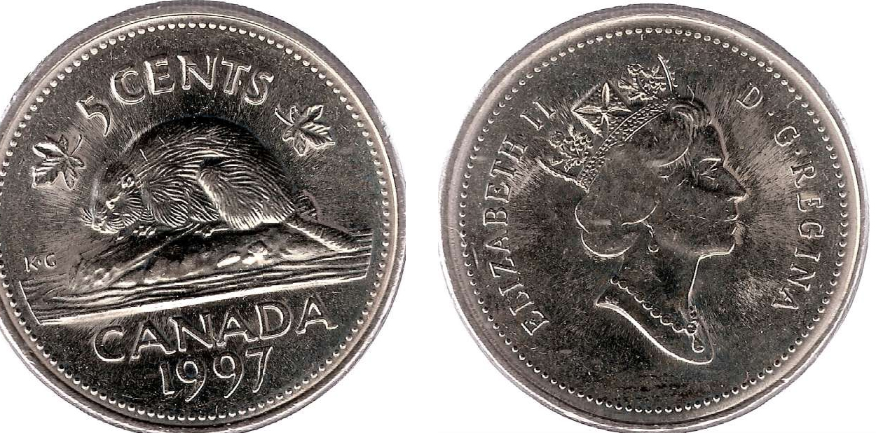 Coins And Canada 5 Cents 1997 Canadian Coins Price Guide And Values