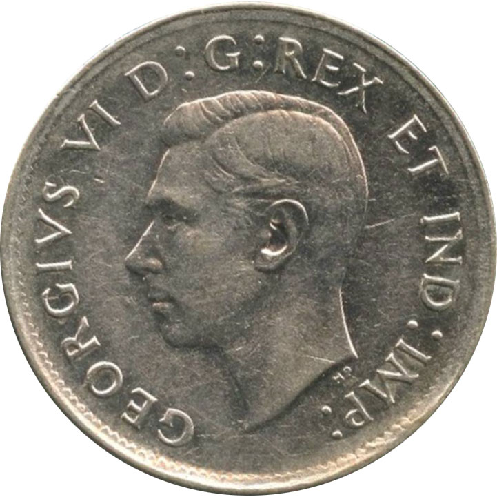 EF-40 - 25 cents 1937 à 1952 - George VI