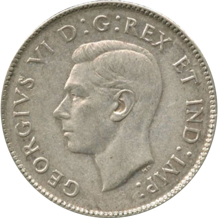 VF-20 - 25 cents 1937 à 1952 - George VI