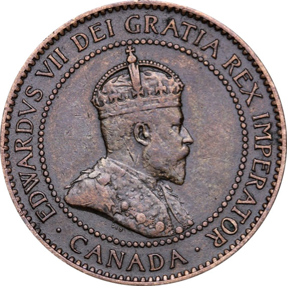 VF-20 - 1 cent 1902 à 1910 - Edward VII
