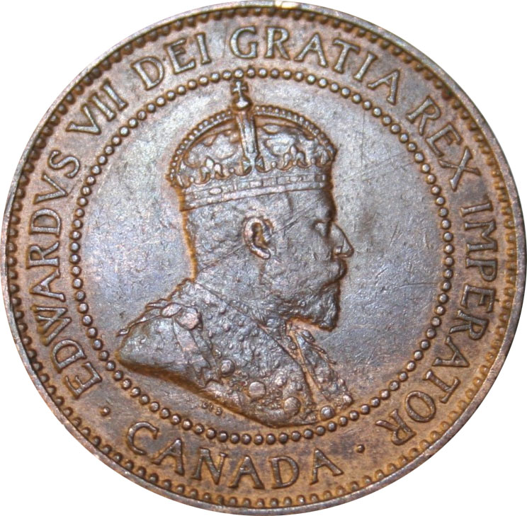 EF-40 - 1 cent 1902 à 1910 - Edward VII