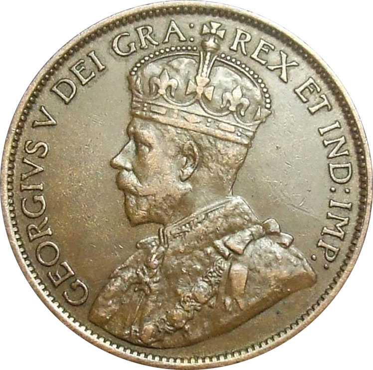 EF-40 - 1 cent 1911 à 1920 - George V