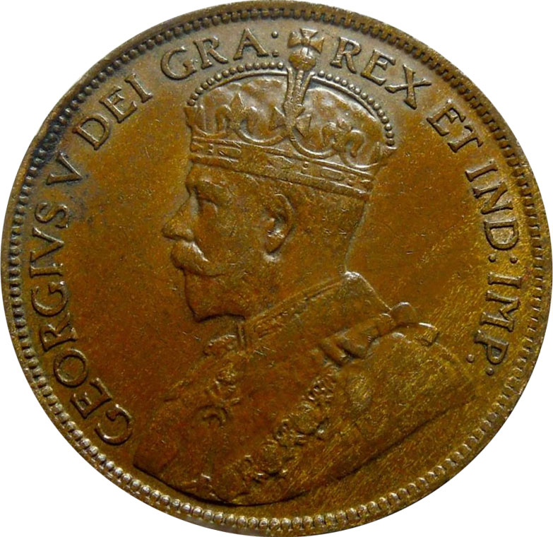 VF-20 - 1 cent 1911 à 1920 - George V