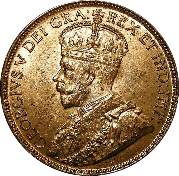 MS-60 - 1 cent 1911 à 1920 - George V